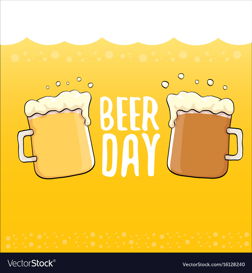 Happy beer day graphic poster