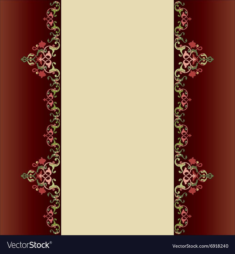 Invitation Card With Islamic Decor