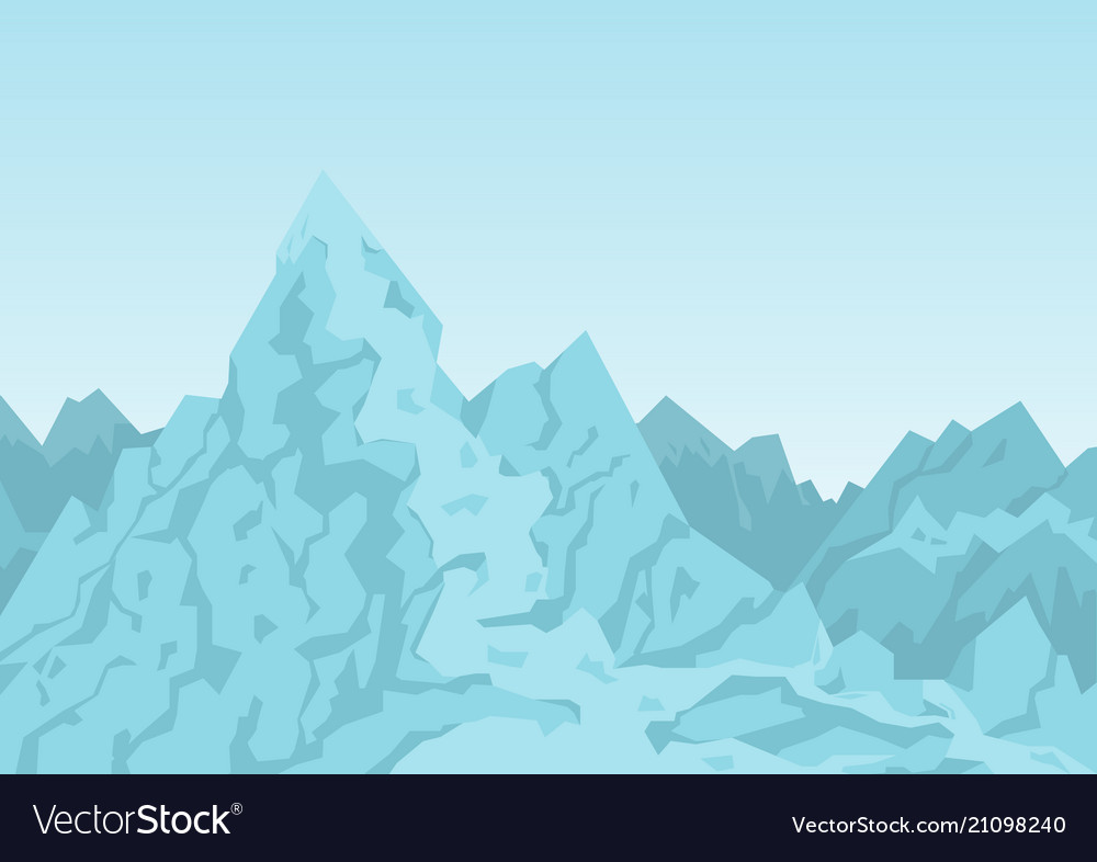 Mountains of blue color image