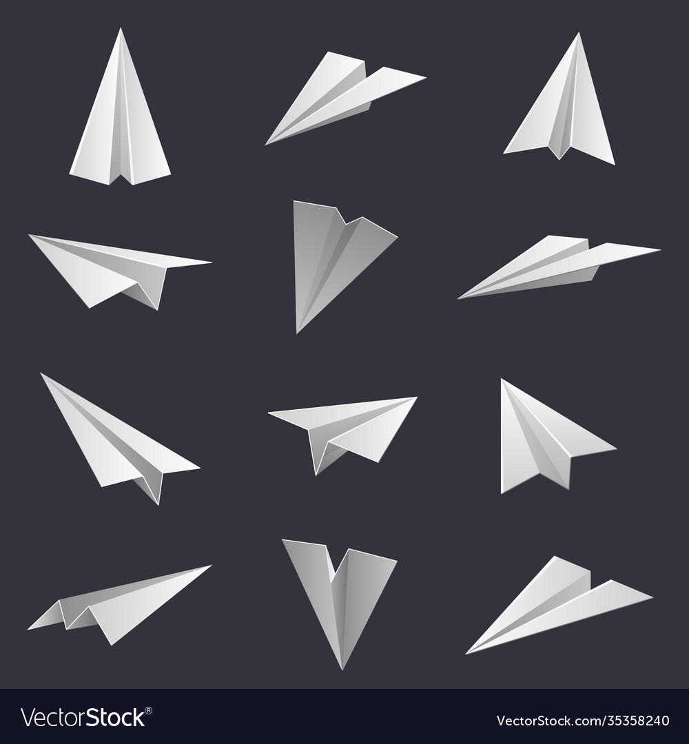 Paper planes handmade origami aircraft figures
