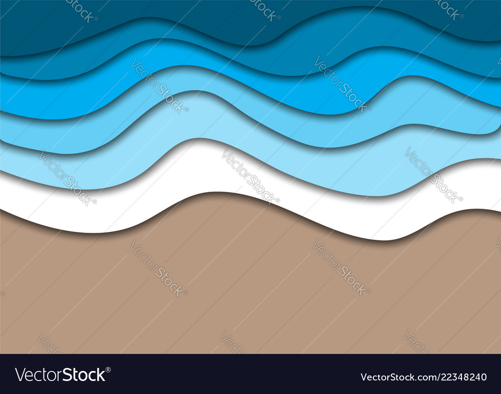 Sea or ocean coast beach with water waves and sand