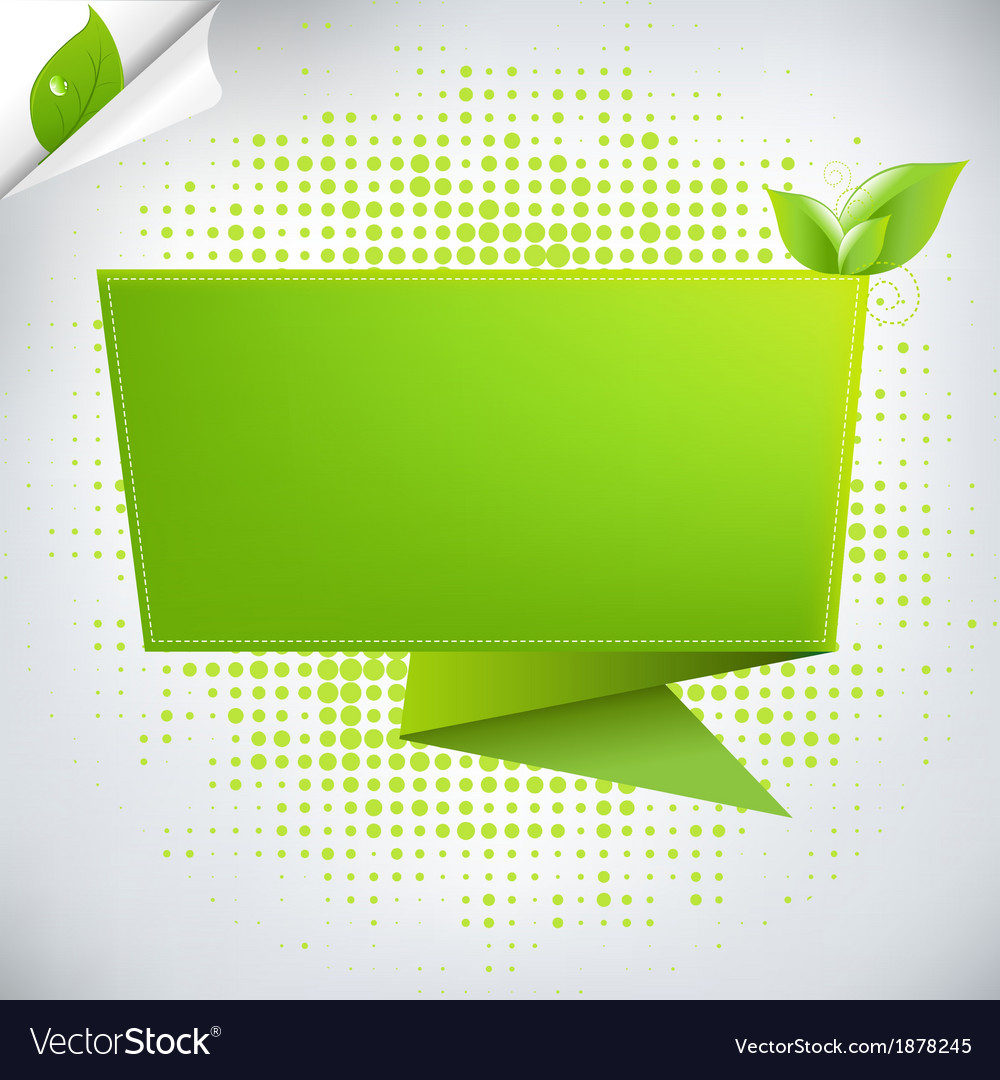 Abstract Background With Origami