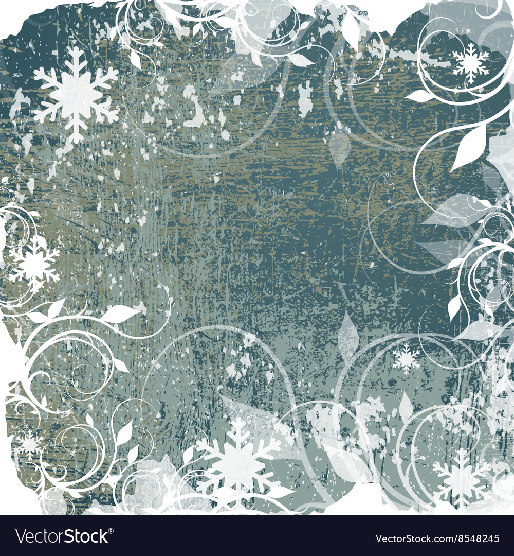Abstract winter grunge background