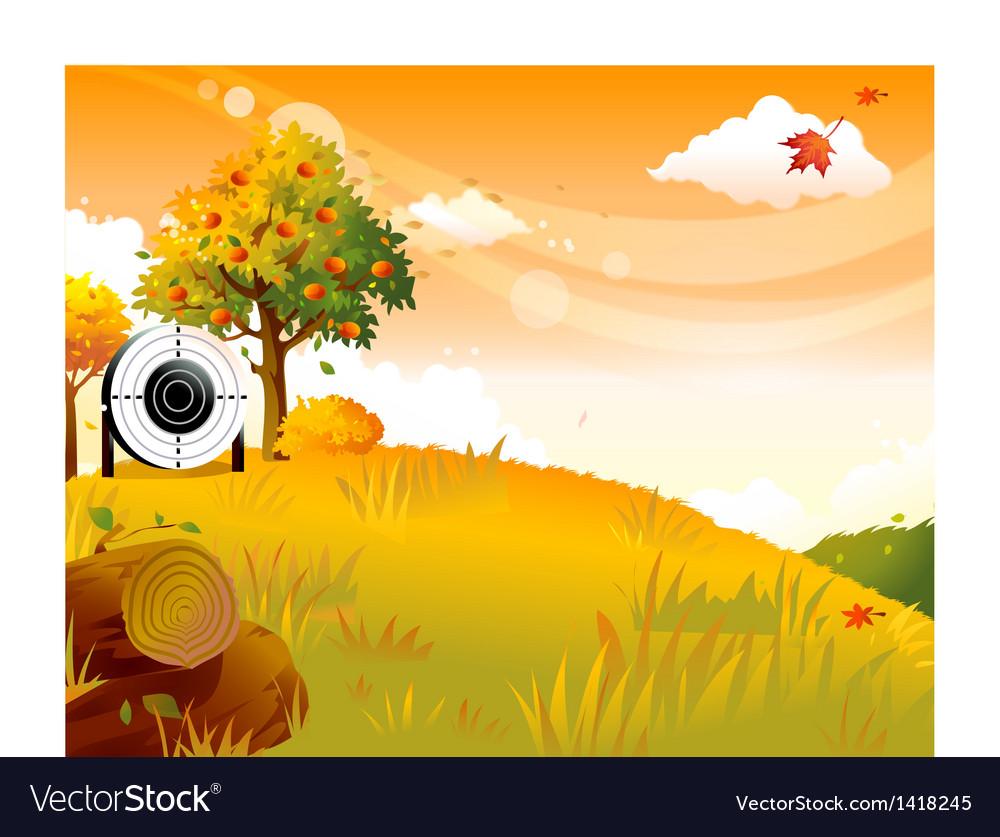 Autumn Archery Practice vector image