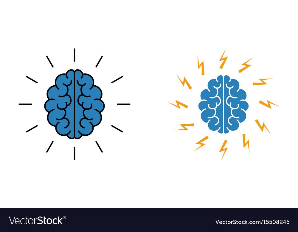 Brain brainstorming icon