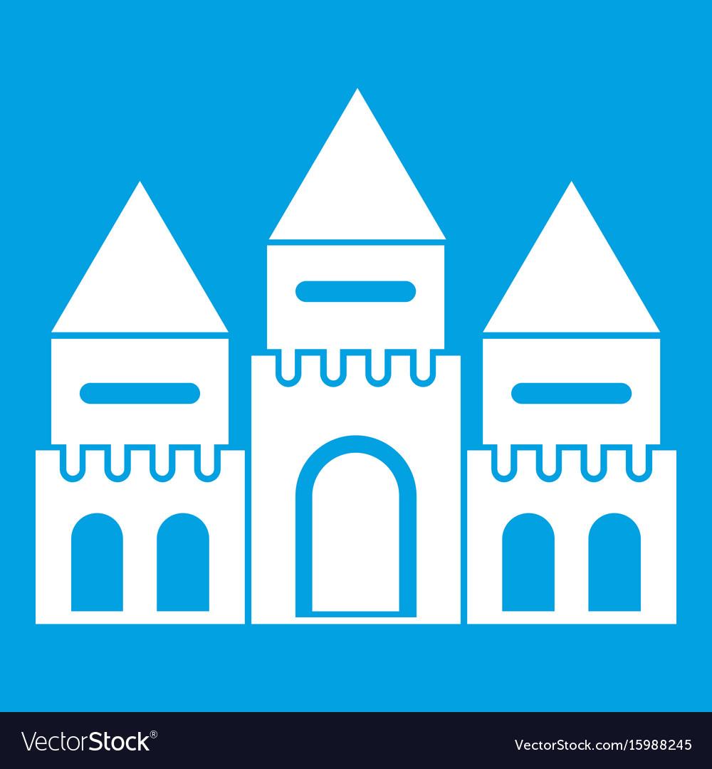Children house castle icon white vector image