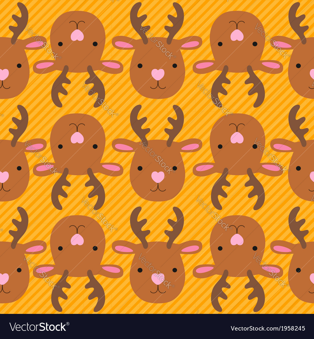 Christmas deer seamless pattern