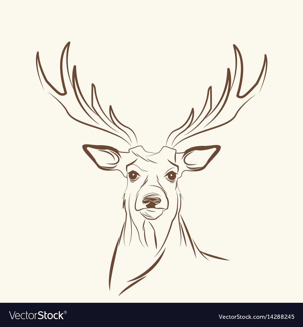 Deer free spirit concept image