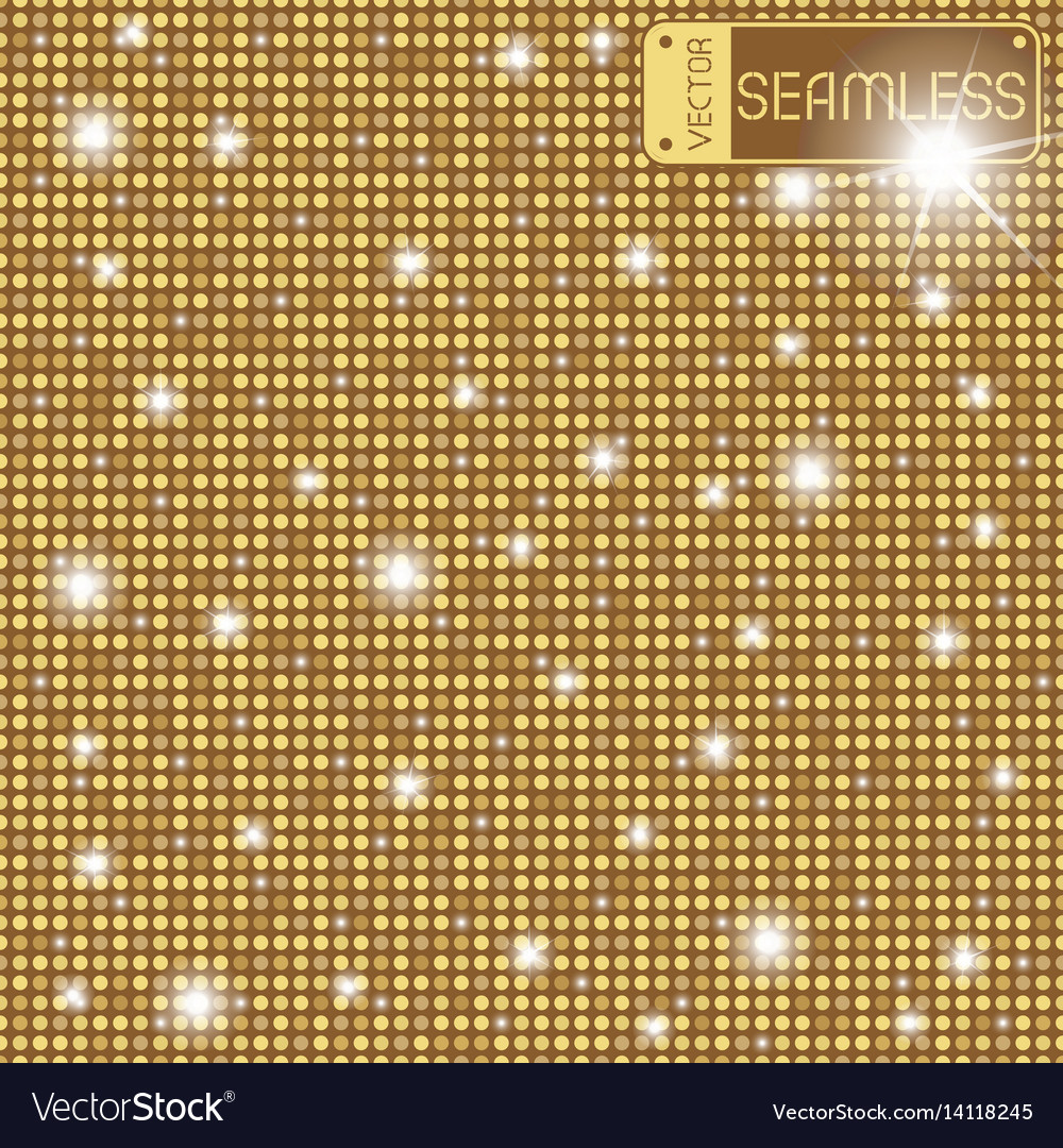 Golden shining rounds seamless texture background vector image