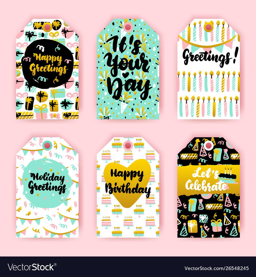 Happy birthday gift labels