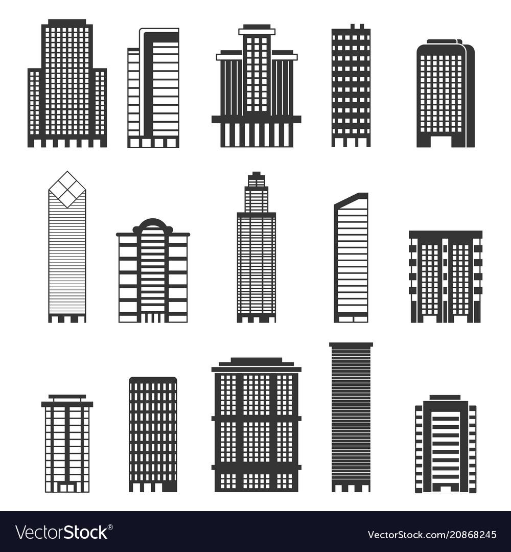 Monochrome of urban buildings