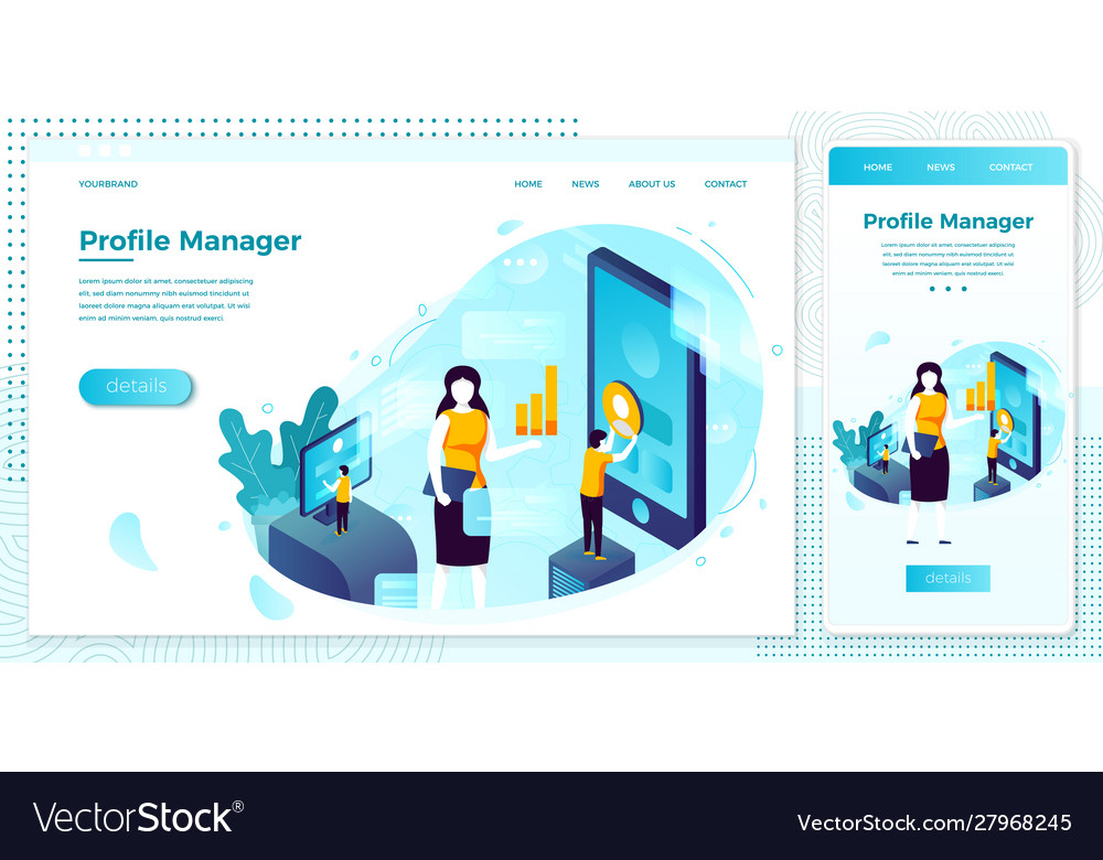 Social network profile manager work people