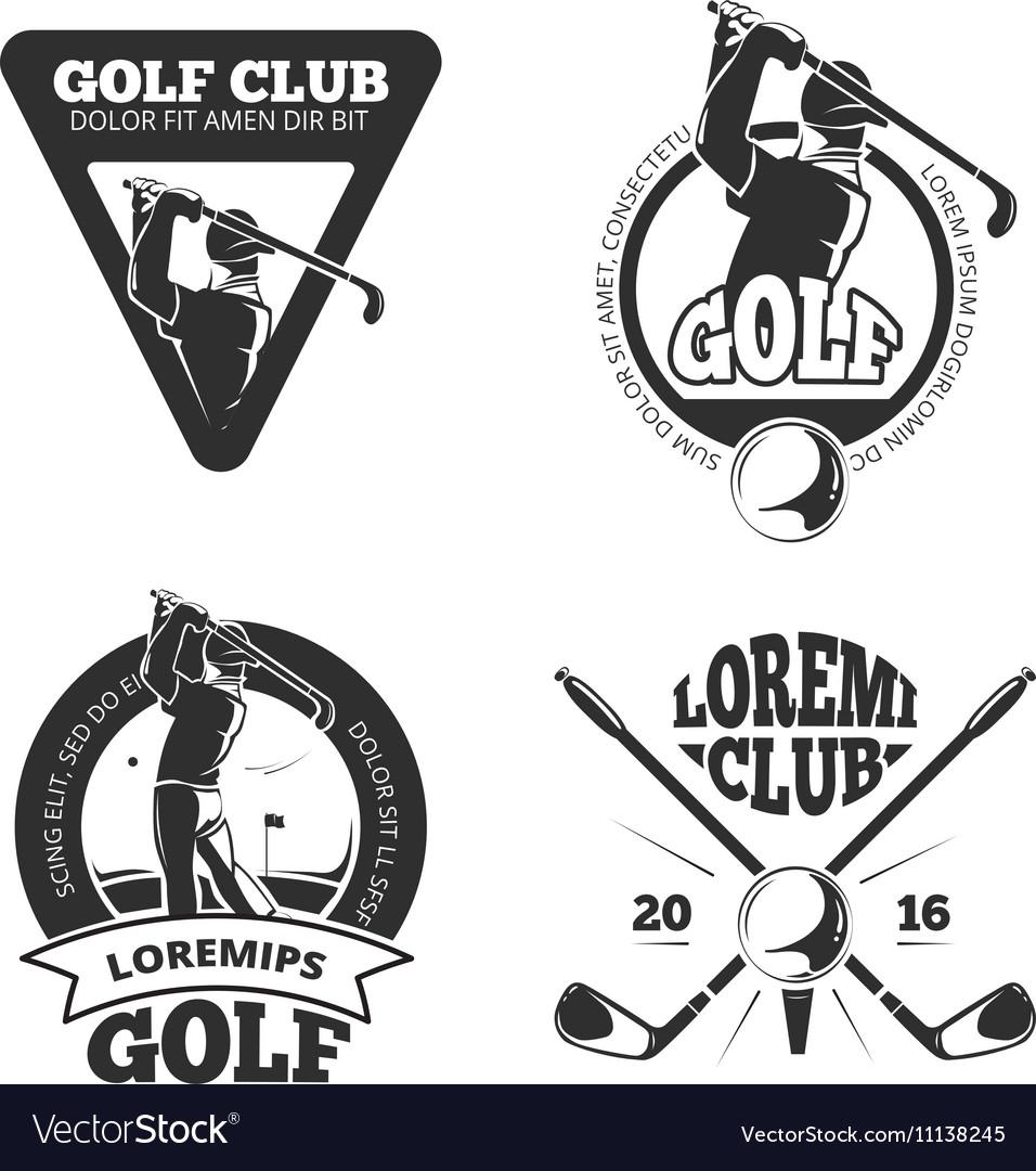 Vintage golf club labels emblems badges