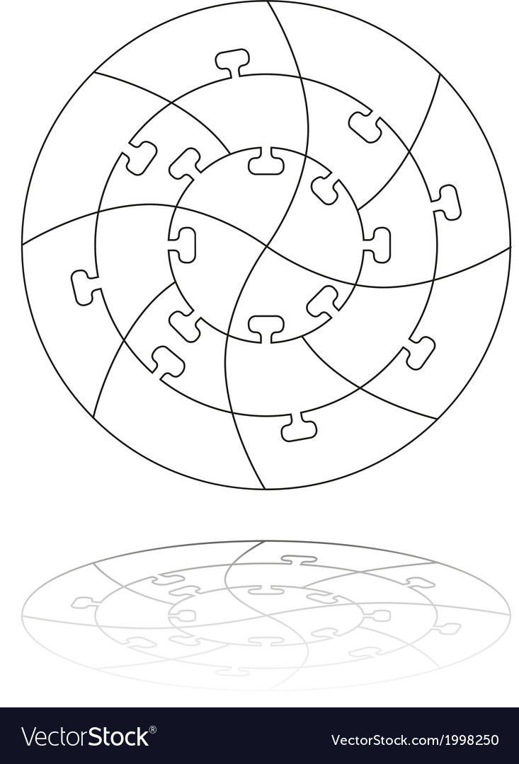 Concentric jigsaw puzzle