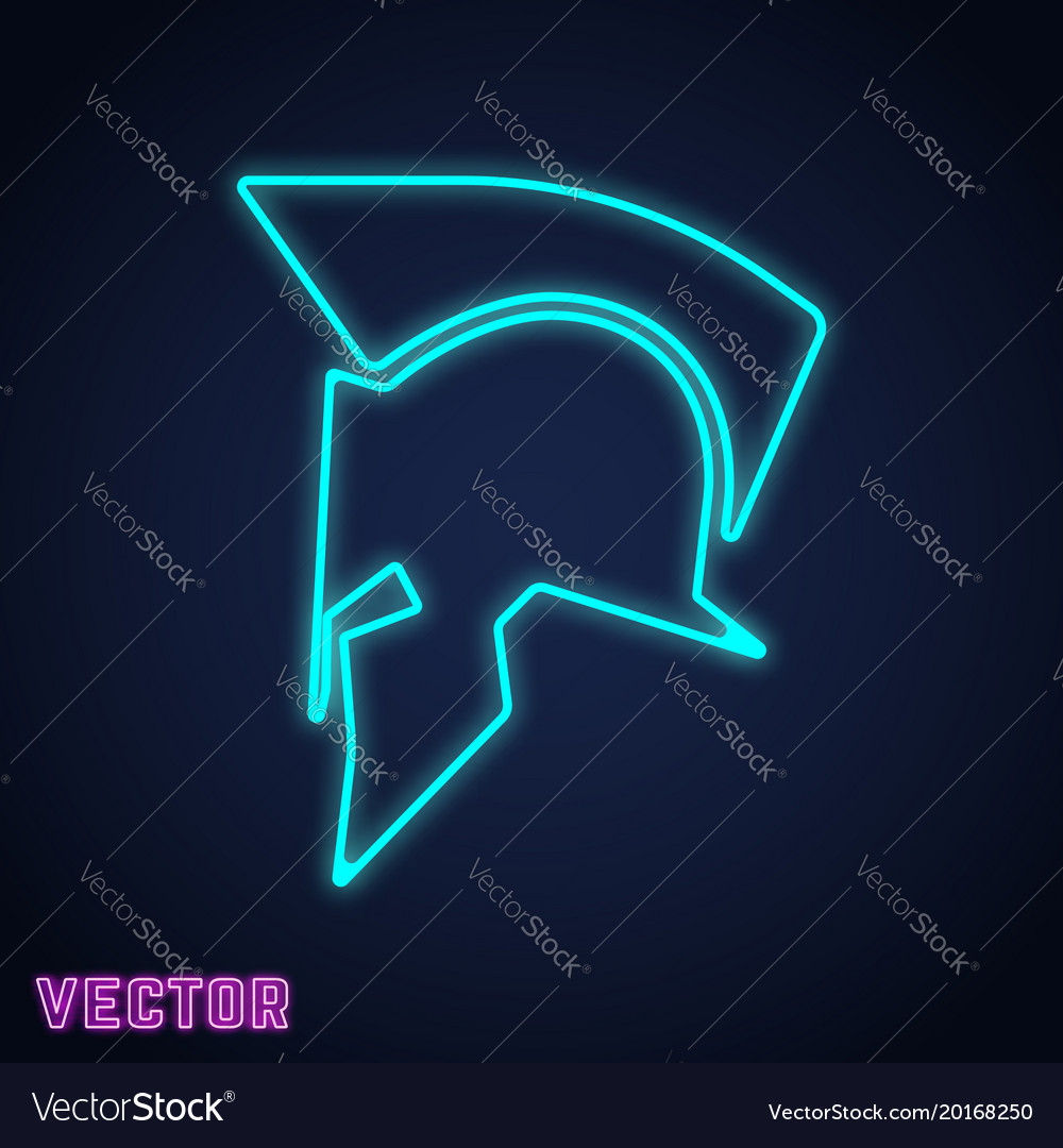 Spartan helmet sign neon light design