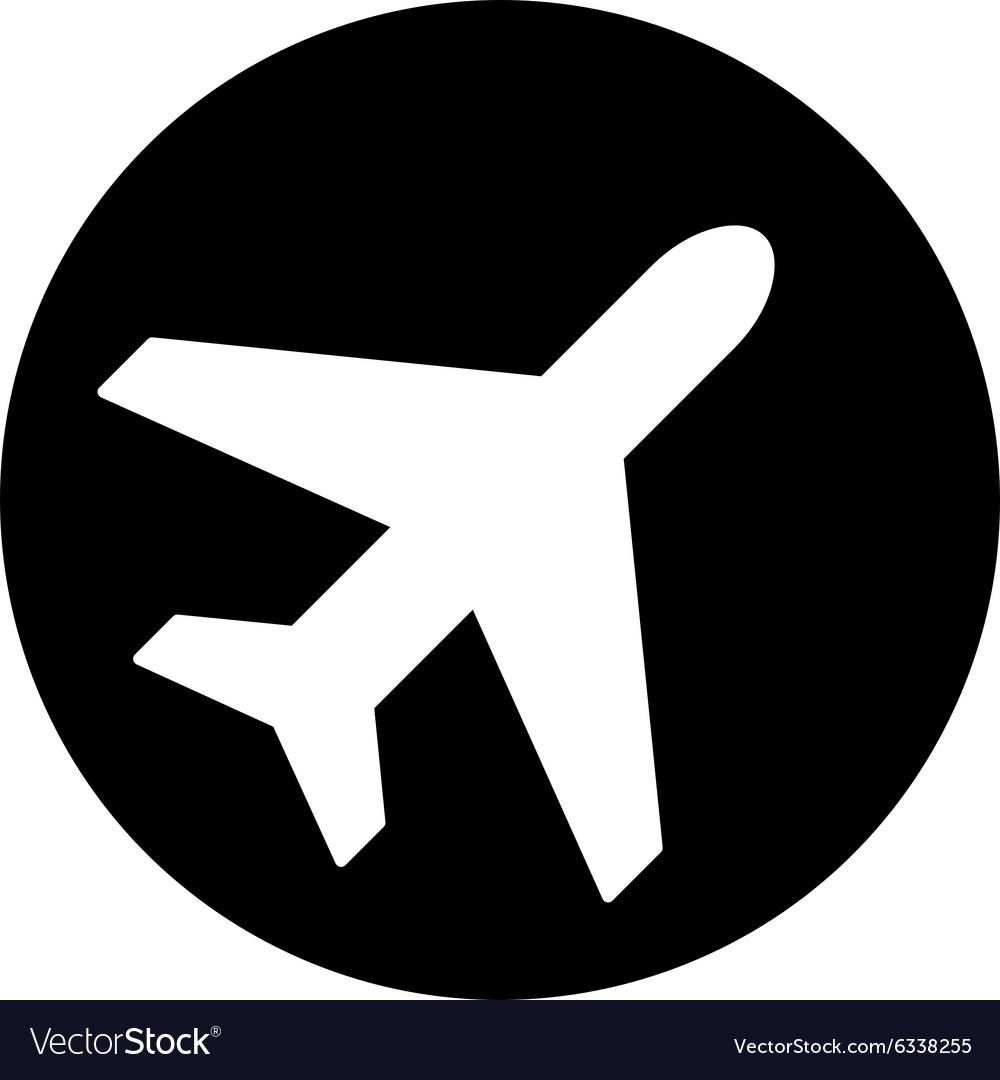 Avion Flat Icon Royalty Free Vector Image Vectorstock