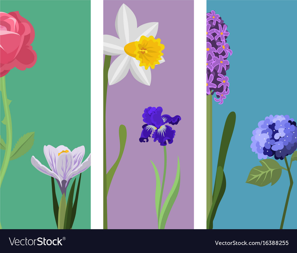 Beautiful spring flower botanical bloom painting