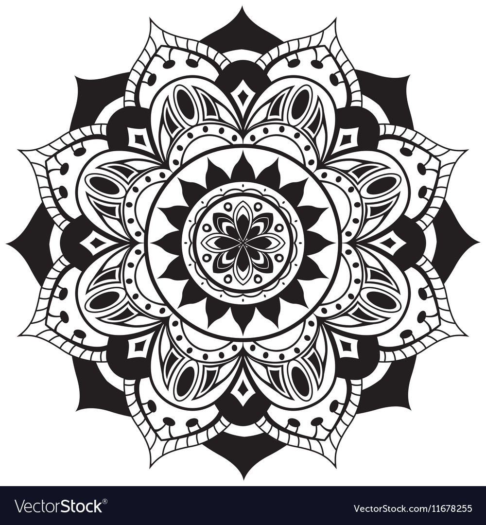 Black simple mandala