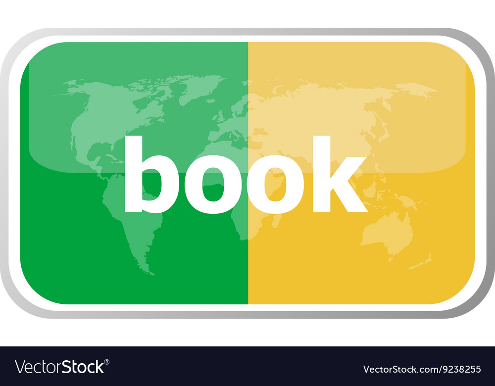 Book word on web button icon isolated on