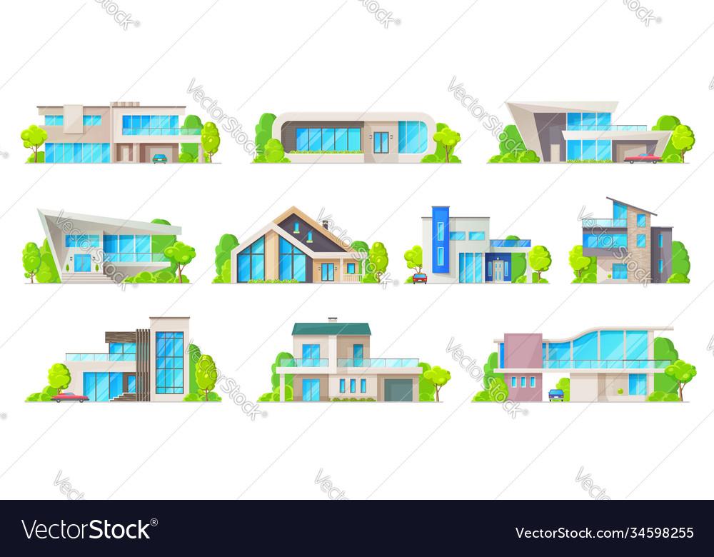 Houses villas bungalow apartments icons