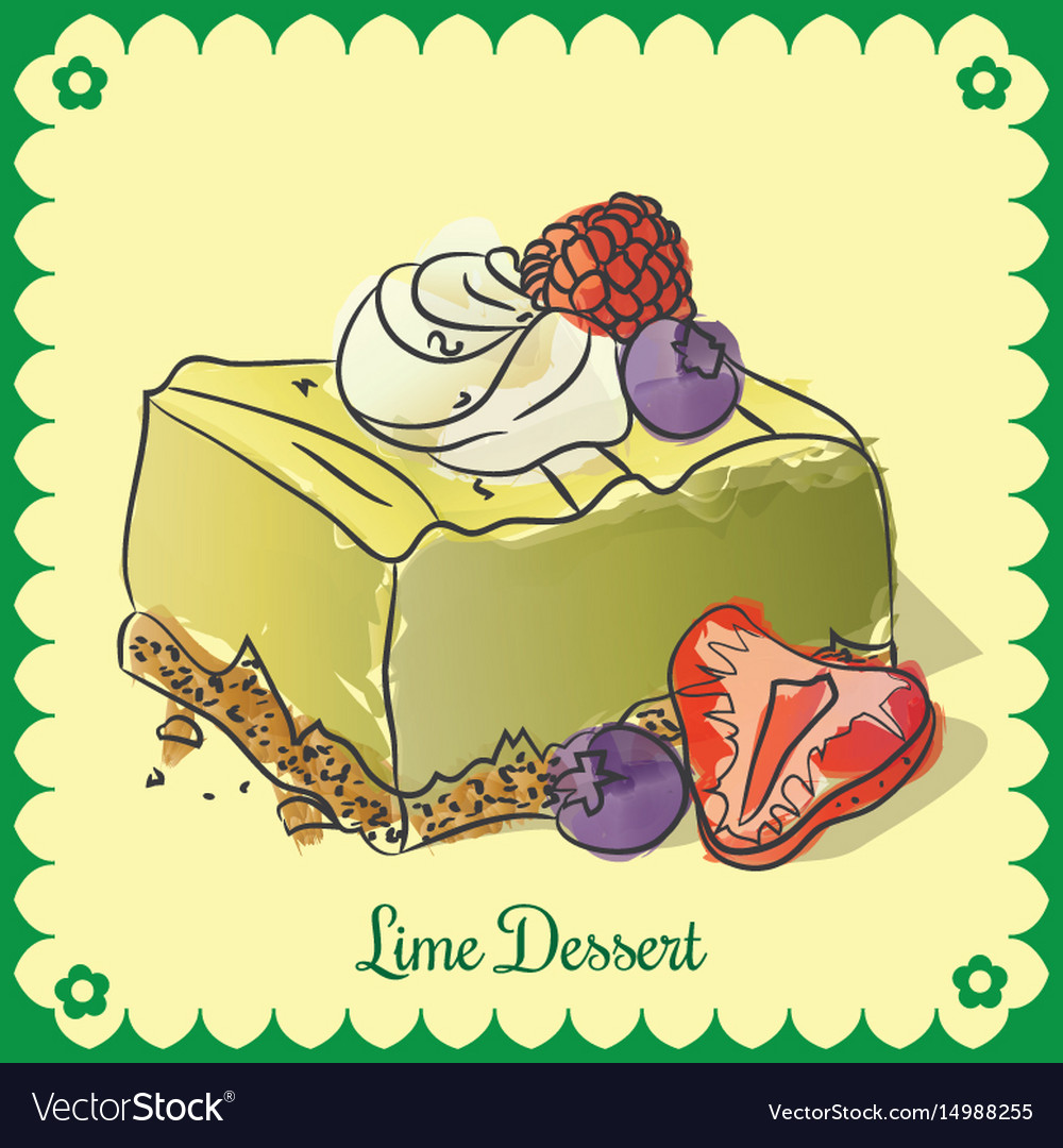 Lime dessert