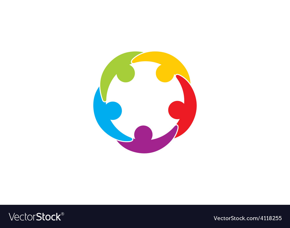 People connection teamwork logo