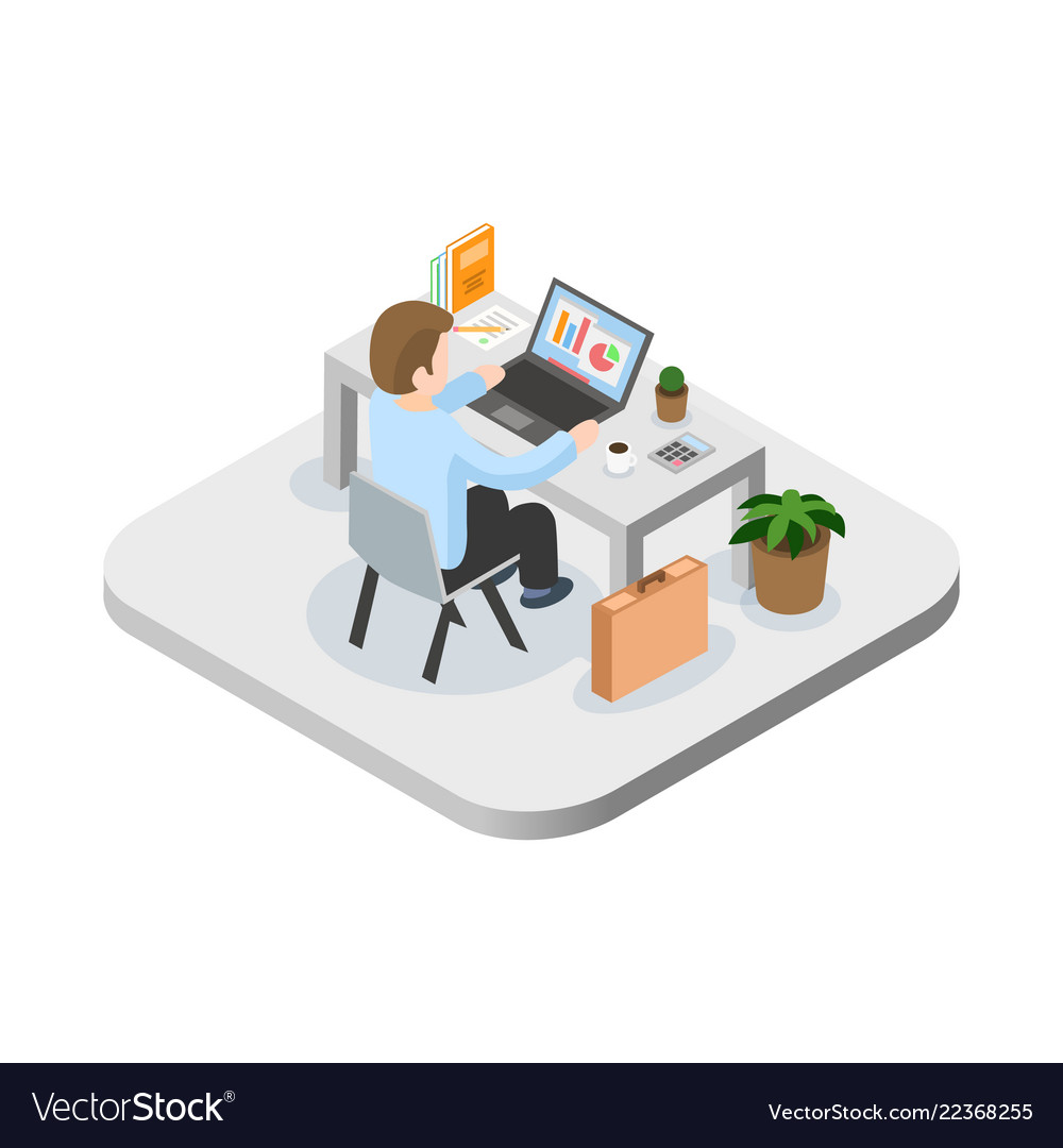 Programmer at work concept can use for web banner