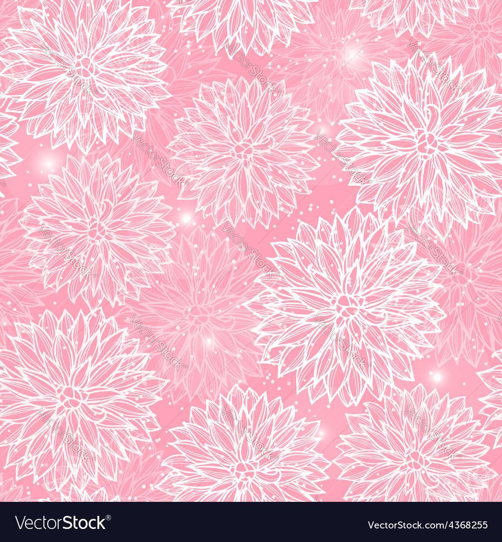 Seamless pattern with flowers dahlia royalty free vector seamless pattern with flowers dahlia vector image izmirmasajfo