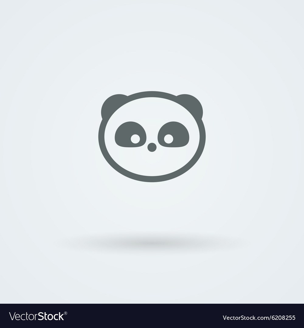 Simple minimalist icon with a muzzle of panda