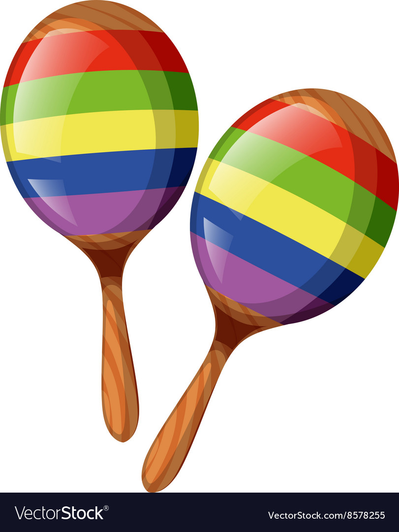 Two shakers in rainbow colors