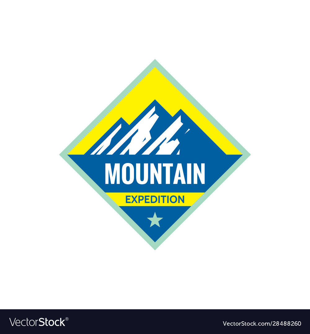 Adventure outdoors - concept badge mountain