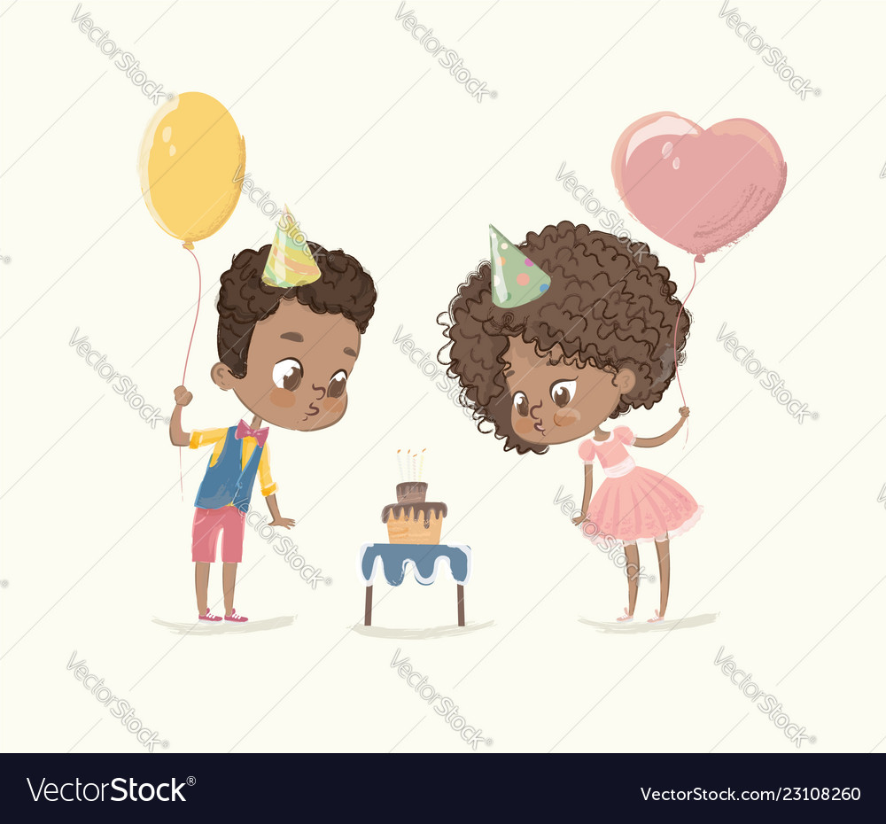 Birthday party characters cite african-american