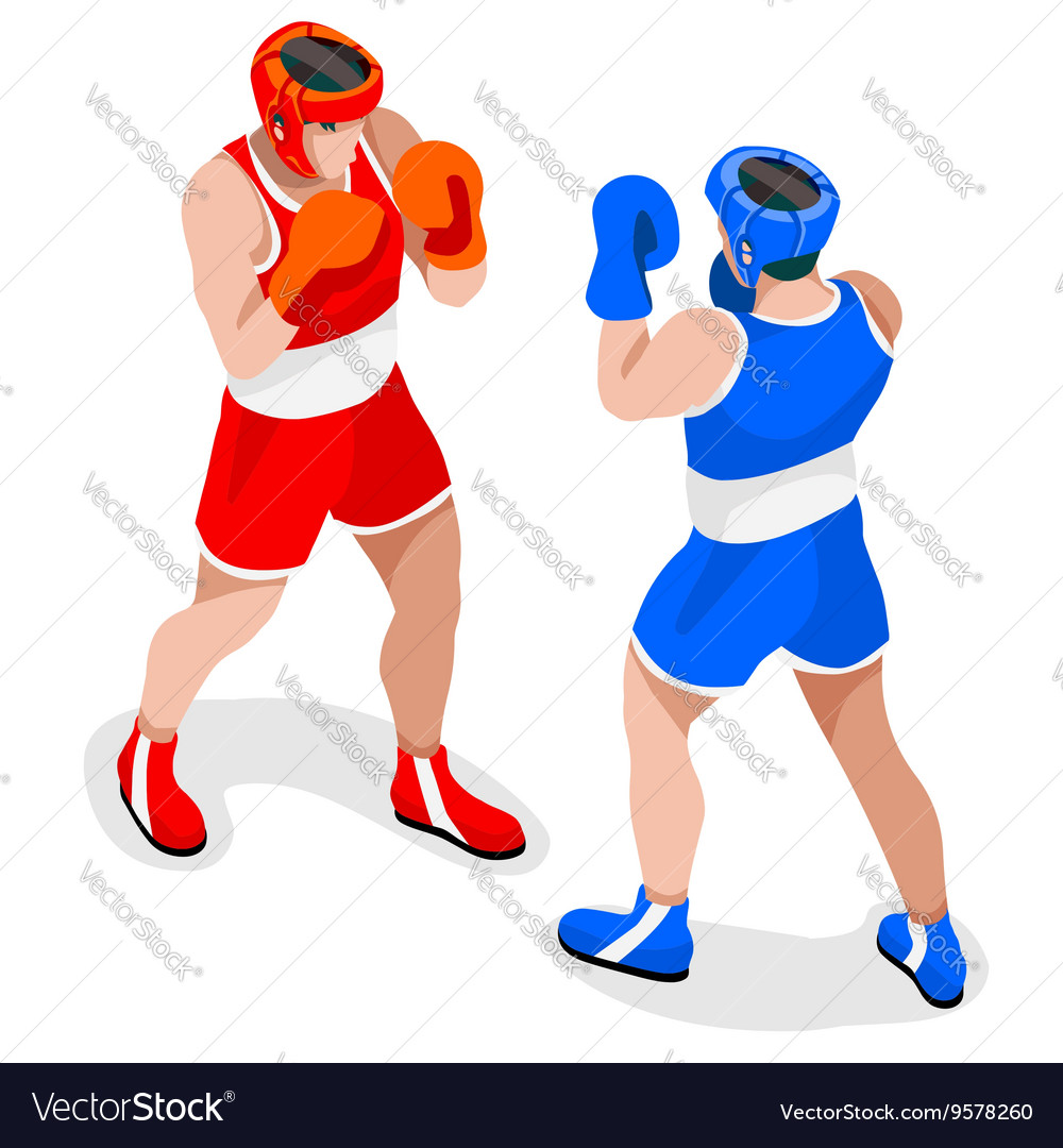 Boxing 2016 Sports 3D Isometric vector image