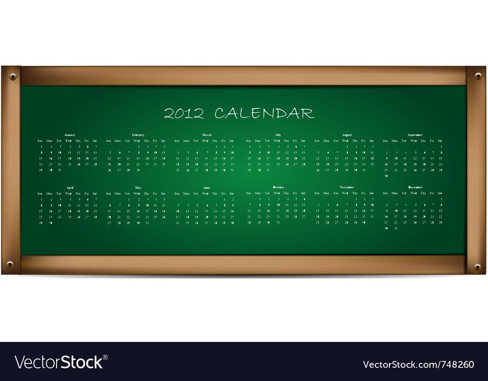 Calendar on school board