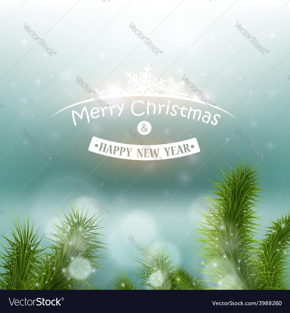 Christmas tree on a background of a snowy