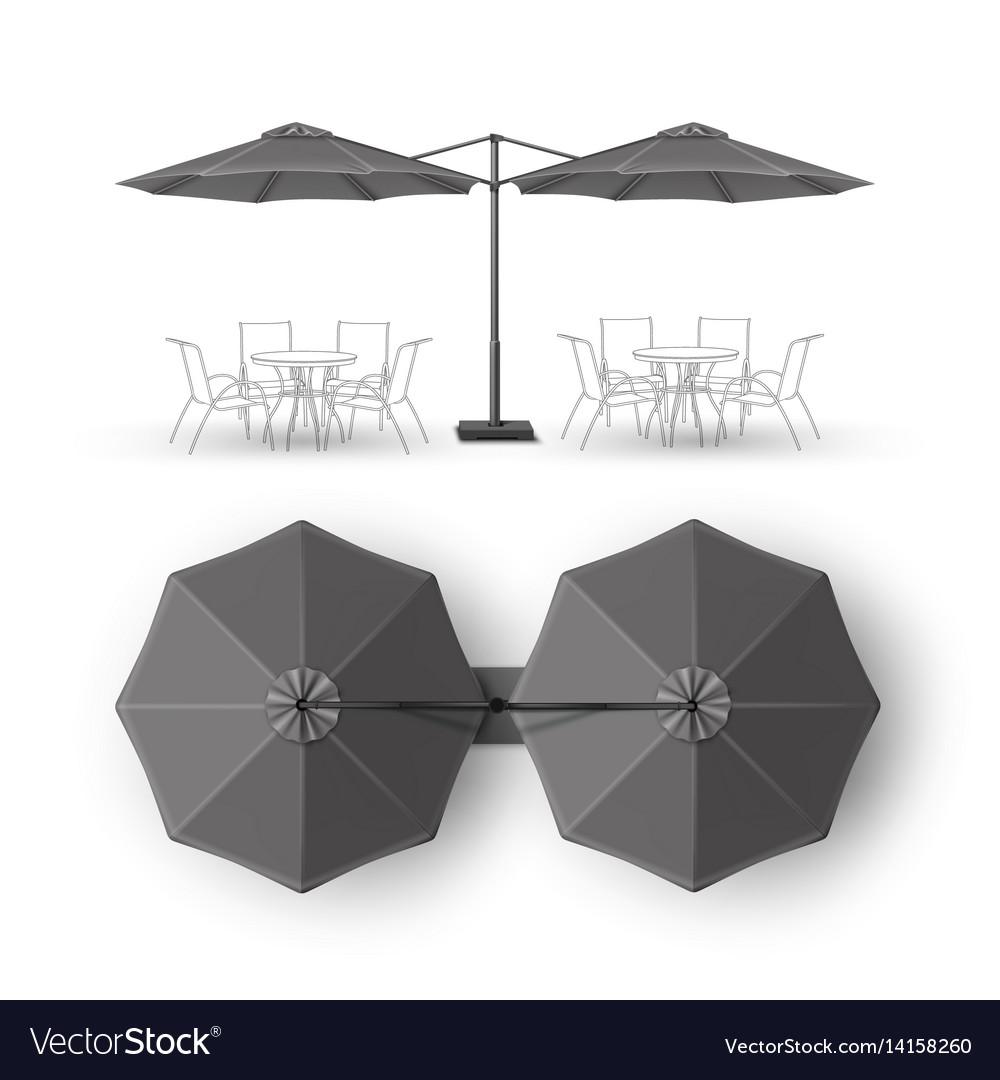 Gray Outdoor Cafe Bar Pub Lounge Round Umbrella Vector Image