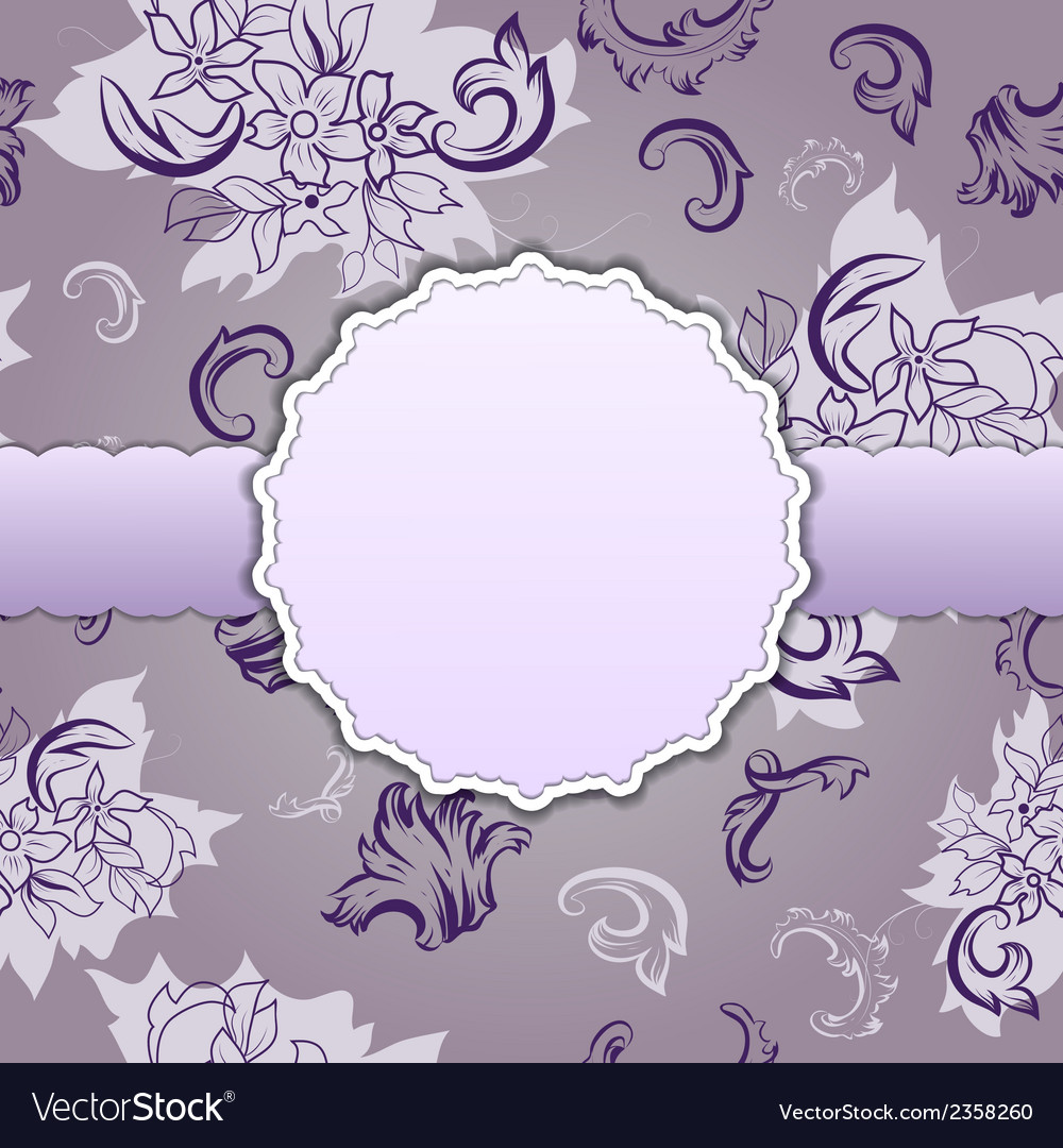 Greeting card with vintage seamless vector image