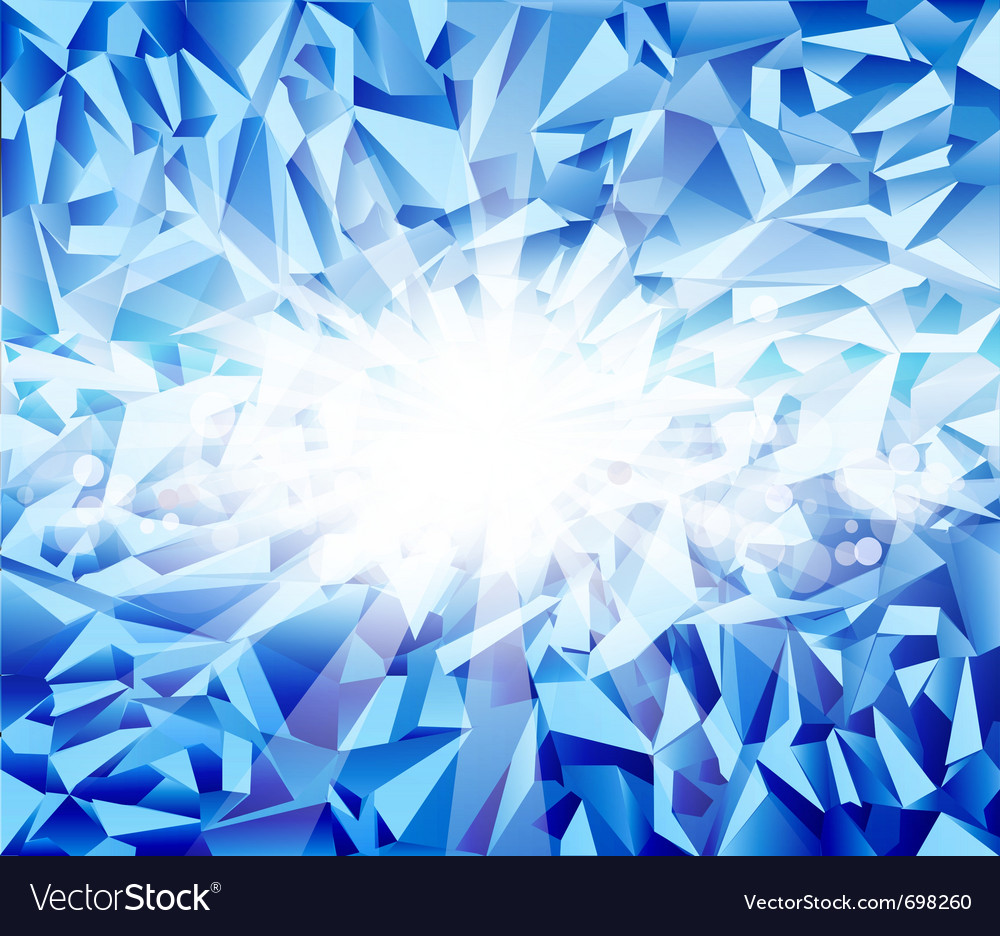 Ice blue background vector image