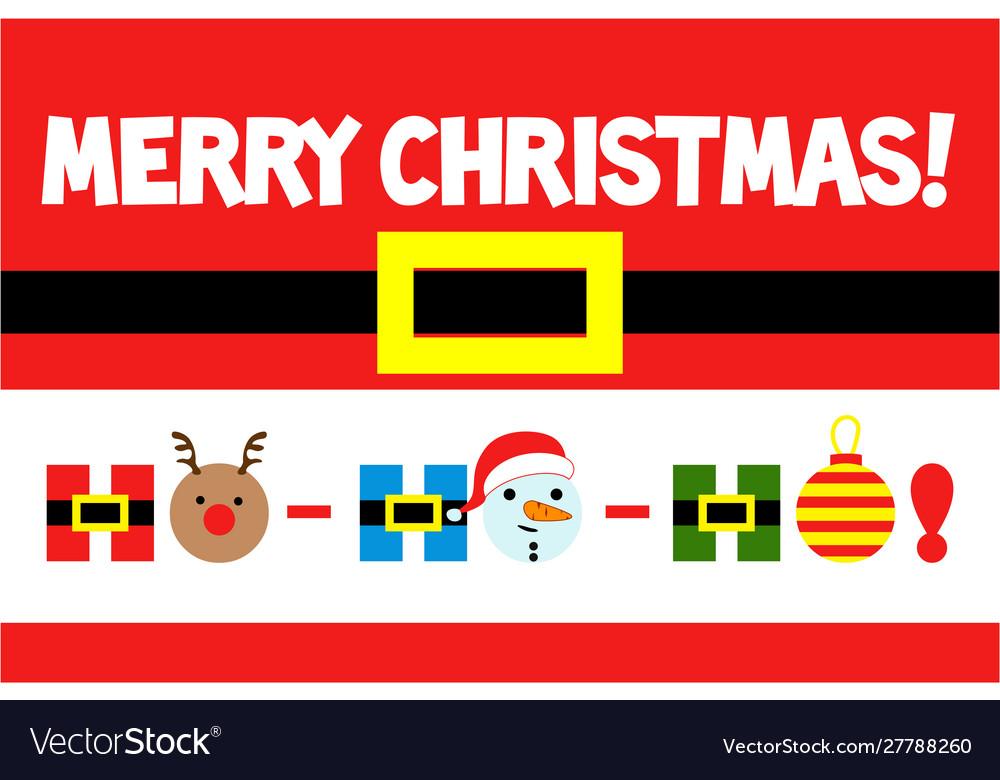 Merry christmas greeting card ho-ho-ho