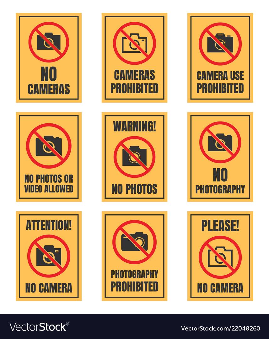 No camera use sign photo prohibited signboard no