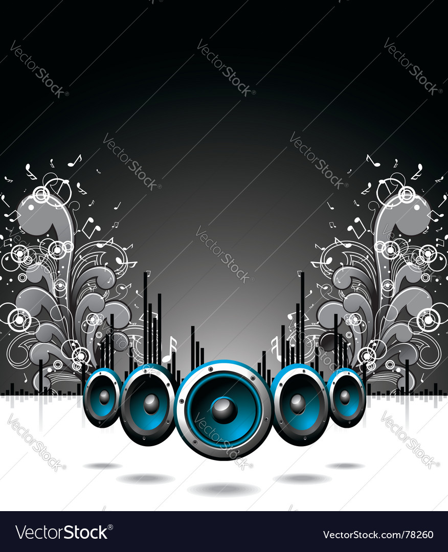 Speakers with floral elements vector image