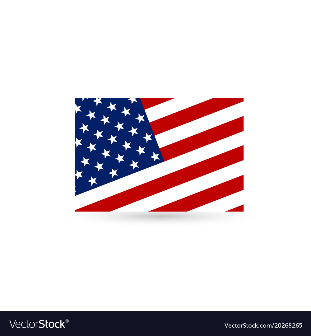 Flat and waving american flag