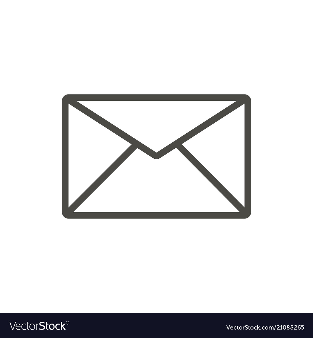 Mail Icon Line Email Symbol Royalty Free Vector Image