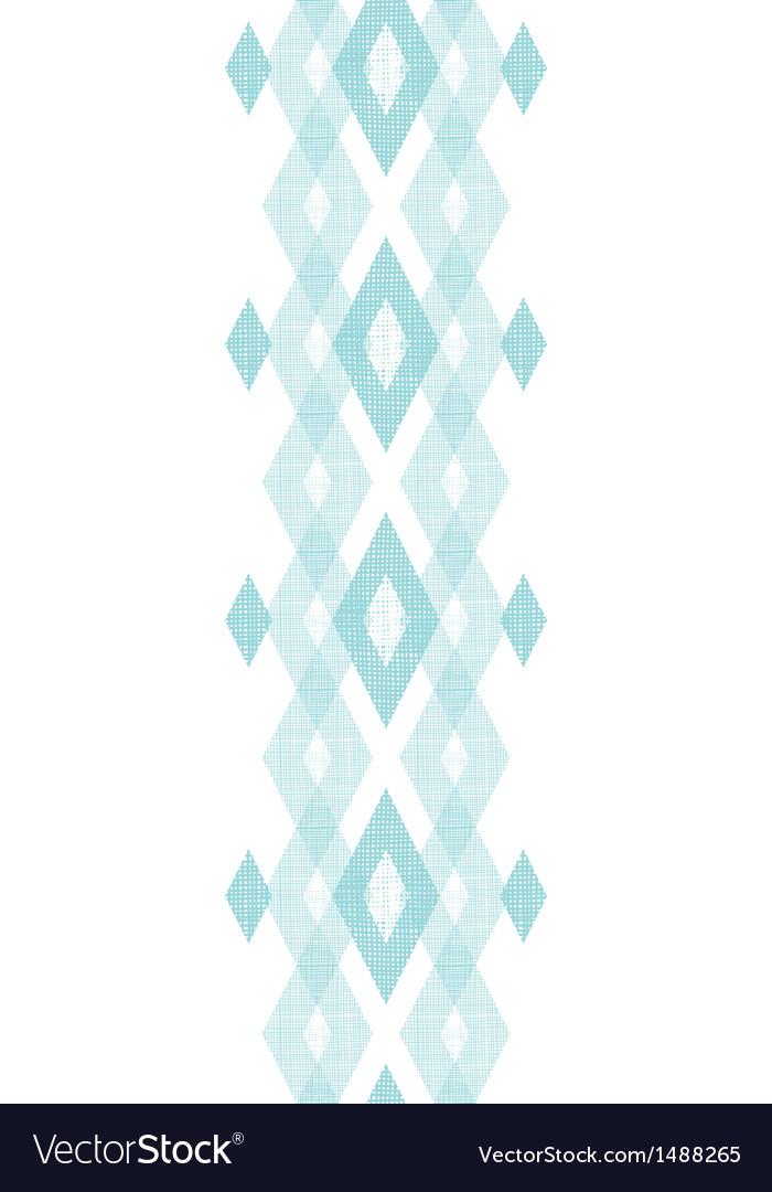 Pastel blue fabric ikat diamond vertical seamless