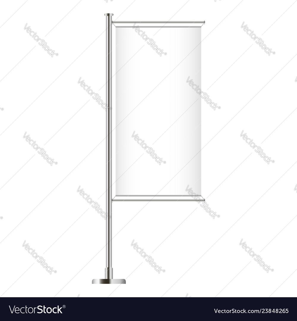 Vertical banner flag