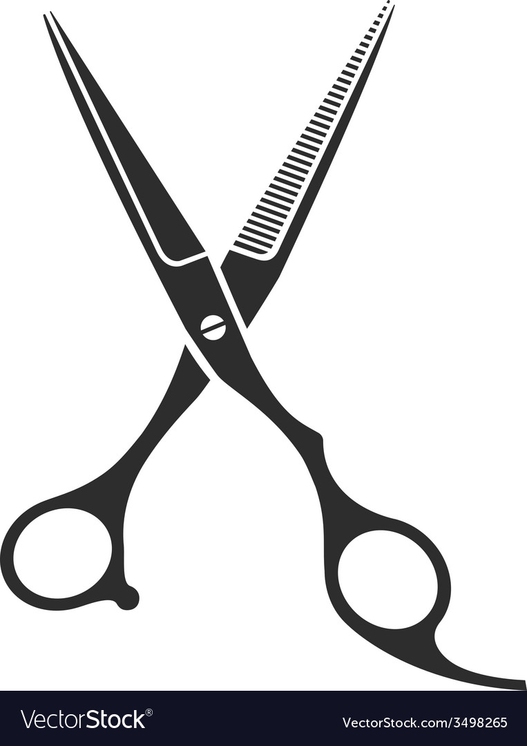 vintage barber shop scissors royalty free vector image rh vectorstock com scissors vector illustrator scissors vector icon