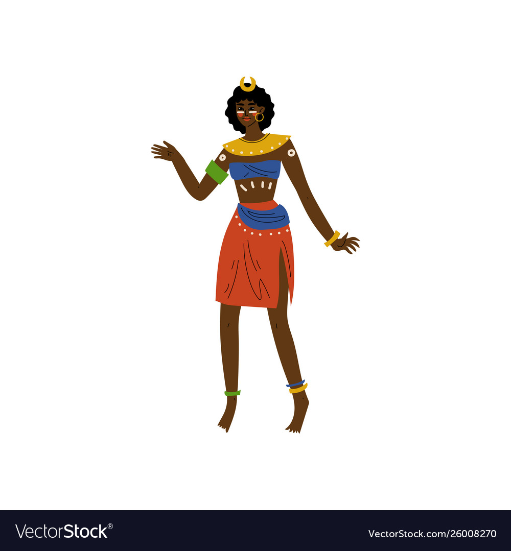 African woman aboriginal girl dressed in bright vector image