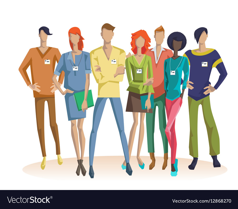 colorful office team concept royalty free vector image