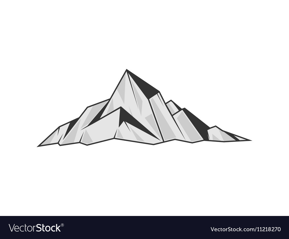 Mountains engraving style