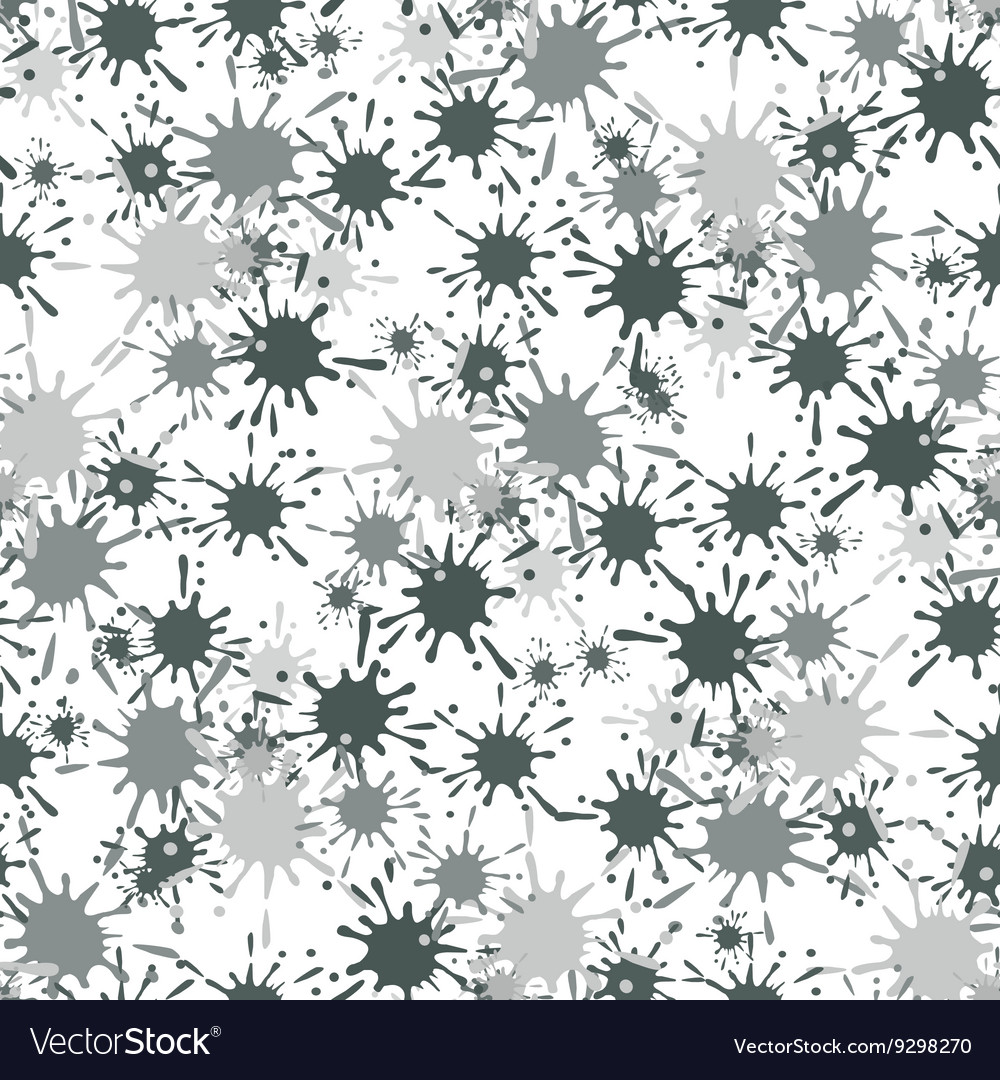 Seamless pattern with paint spots ink splashes
